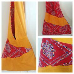 """Un sac réversible """"Cloé"""" imprimé indien cousu par El'En. - Patron de couture Sacôtin"""