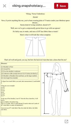 Viking under tunic measures & instructions - Viking under tunic measures & instructions Source by - Costume Viking, Viking Cosplay, Viking Reenactment, Viking Tunic, Medieval Tunic, Viking Dress, Medieval Dress Pattern, Viking Pattern, Tunic Pattern
