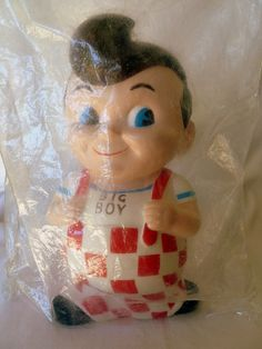 $40.00 Bob's Big Boy Piggy Bank 1973 Still sealed in original plastic bag and in excellent condition!