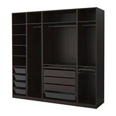 PAX Wardrobe, black-brown - IKEA