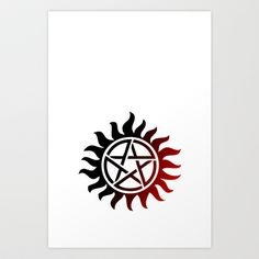 Supernatural tattoo Art Print by STATE OF GRACCE - $16.64