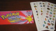 NEW Package of POKEMON Character Stickers 150 * Party Supplies
