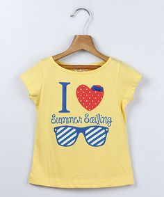 Look at this Beebay Yellow Summer Sailing Tee - Girls on #zulily today!