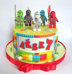Фотография Lego Birthday, Happy Birthday, Birthday Cake, Ninjago Cakes, Lego Cake, Cake Decorations, Ale, Birthdays, Cupcakes