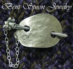 Vintage Recycled Spoon Shawl Pin