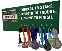 Courage to start strength to endure resolve to finish Medal rack - Perfect gift for man running - men runner's gift - Starting at $24.99