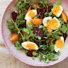Try the Beet and Watercress Salad with Farm Eggs Recipe on williams-sonoma.com/