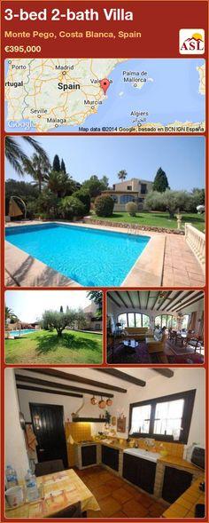 3-bed 2-bath Villa in Monte Pego, Costa Blanca, Spain ►€395,000 #PropertyForSaleInSpain