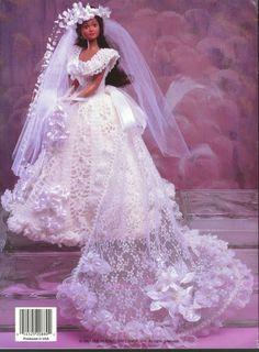 Barbie, Fashion Doll Crochet, WEDDING BELLES 2,  pattern