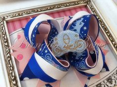 Cinderella Stacked Boutique Hair Bow by BanglesnBows on Etsy, $9.50