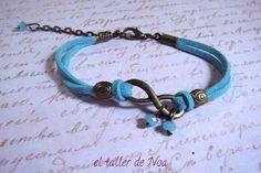 #Pulsera ref. ibi15003 de la colección Infinit Bracelet. #azul sky con #infinito perfecto para un outfit casual. Más en www.eltallerdenoa.com Consultas en eltallerdenoa#gmail.com #bisutería #bracelet #jewelry #joyería