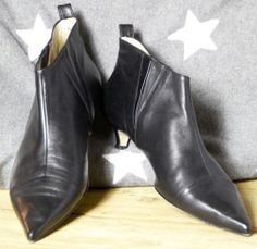 **WOW**TOP**Designer-Stiefelette, OXITALY spitz, schwarz, Gr. 42 wie 41 | eBay