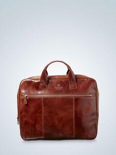 Tiger of Sweden Emir Bag #briefcase #laptop #bag #brown #leather #fashion