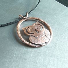 Radial Copper Owl Pendant | Flickr - Photo Sharing!