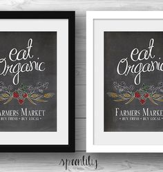 Farmers Market Eat Organic Quote printable art by SpoonLily