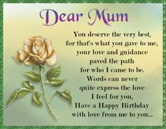 Lovely card of sentiment for a mum who means the world to you. Free online Happy Birthday To A Special Mum ecards on Birthday Birthday Wishes For Mum, Happy Birthday Penguin, Happy Wedding Anniversary Wishes, Birthday Hug, Birthday Verses, Cute Happy Birthday, Birthday Songs, Happy Birthday Greetings, Happy Birthday Banners