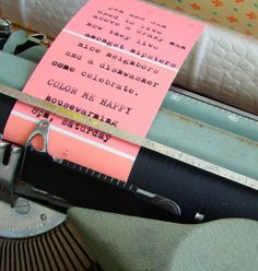 cute invitation idea...but who has a typewriter?!
