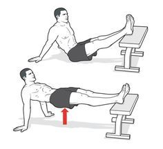 Straight-Leg Crab Hip Raise