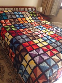 Knitting Blanket Color Full