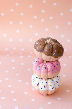 DIY Donut Pumpkins- so cute!