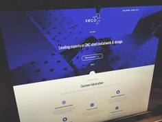 Xeco website by Sam Mearns