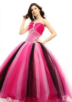 Ball Gown Sweetheart Strapless Floor-length in Tulle Quinceanera Dress