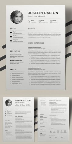Best Word Resume Template Indesign Resume Template, One Page Resume Template, Resume Design Template, Creative Resume Templates, Cv Template, Infographic Resume Template, Cv Fashion Designer, Interior Design Resume, Fashion Resume