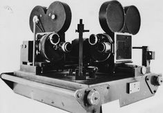 Inventor Floyd Ramsdell's embryonic 3D film camera rig, designed based on beam-splitting principles, from the late 1940's.