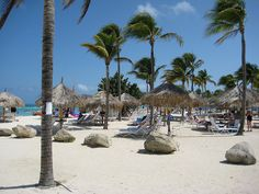 The beach in front of the Marriott Surf Club in Aruba.  Love it here!