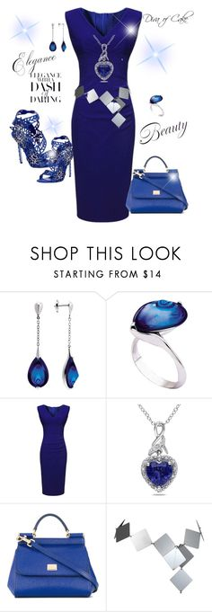 """Night blue outfit"" by Diva of Cake on  Polyvore featuring Alexander McQueen, Baccarat, Miadora, Dolce&Gabbana and Paco Rabanne"