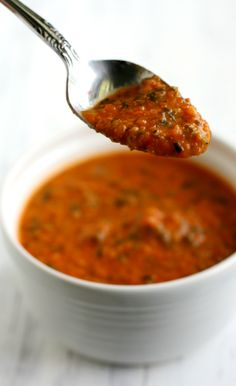 The creamiest tomato soup - such a delicious lunch option for fall and winter!
