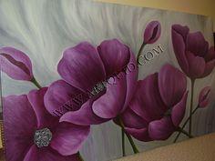 cuadro con flores en color magenta - Buscar con Google
