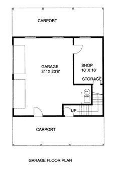 Home Plan: - Garage Level Floor Plan Garage Apartment Plans, Garage Apartments, Rv Garage, Custom Home Designs, Custom Homes, Garage Design, House Design, Prefab Garages, Design Firms