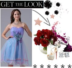 """""""Iowa City Multi-color Sweetheart Prom Cocktail Dress With Appliques and Ruch In 2013 Cocktail Dress"""" by prettydressesforyou ❤ liked on Polyvore"""