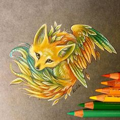 Fennecs are so pretty, can't resist and not to draw one^^