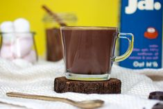The best dairy free hot chocolate comes down to the milk you use. Oat milk gives you the fluffiest, frothiest hot chocolate. Add cinnamon for spice. Lassi Recipes, Smoothie Recipes, Smoothies, Cinnamon Quill, Dairy Free Hot Chocolate, Freshly Squeezed Orange Juice, Strawberry Smoothie, Oat Flour, Corn Syrup