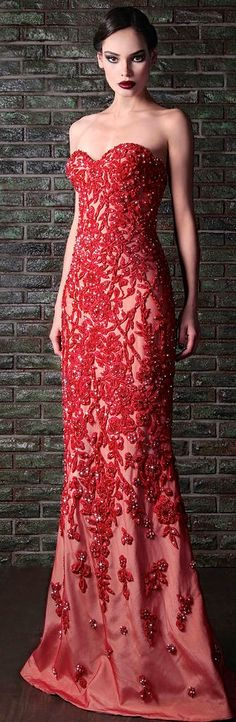 Miss Millionairess / The Gown Boutique/ karen cox.   Rami Kadi Couture Red Glamour Gown