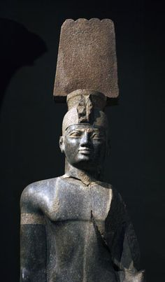 Granite statue of the Kushite King Aspelta, from the Great Temple of Amen at Jebel Barkal dated to the Service of Aspelta (600-580 BCE).