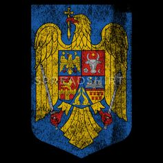 Romanian Coat of Arms Romania Symbol Men's T-Shirt ✓ Unlimited options to combine colours, sizes & styles ✓ Discover T-Shirts by international designers now! Coat Of Arms, Romania, Symbols, Colours, T Shirt, Painting, Vintage, Guns, Craft