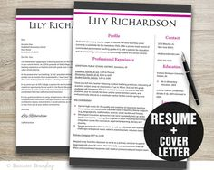 Resume Template and Cover Letter Instant by BusinessBranding