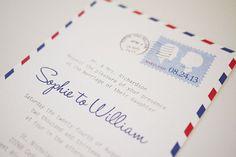 Vintage Airmail Letter DIY Printable Wedding by 3EggsDesign, $39.00