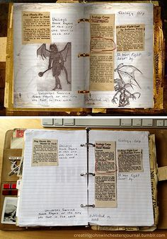 New for 2015, recreating newspaper clippings in my journal. The first image is from the now defunct official Supernatural website, the second is my journal. #SPN #Supernatural #johnsjournal #JohnWinchestersJournal #Supernaturalcosplay