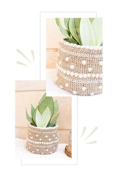 Are you looking for a fun pattern to add texture to a plain plant pot?  This bubbly crochet plant pot cover pattern is the one!  #CROCHETPLANTPOT #CROCHETJUTEBASKET #CROCHETHOMEDECOR #MODERNCROCHET Crochet Bobble, Bobble Stitch, Free Crochet, Crochet Home Decor, Crochet Crafts, Yarn Crafts, Crochet Ideas, Crochet Cushion Cover, Crochet Cushions