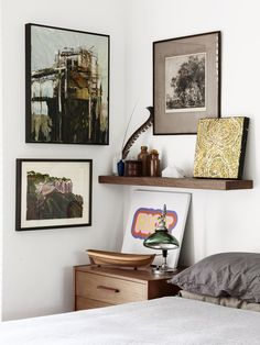 Welcome To My House, Small Bedroom Designs, Shelves In Bedroom, The Design Files, Home Bedroom, Bedrooms, Interiores Design, Home Decor Accessories, Interior Inspiration
