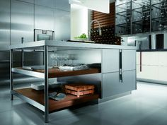 LACQUERED KITCHEN WITH HANDLES BARRIQUE COLLECTION BY ERNESTOMEDA | DESIGN RODOLFO DORDONI
