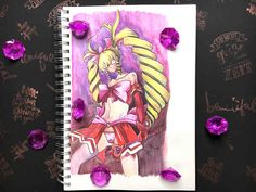 Let's draw Kayo Majiba from Magical Girl By Accident - 3 - Starlene Honey Mechanical Pen, White Pen, Faber Castell, Magical Girl, Fanart, Honey, Ink, Drawings, Pictures