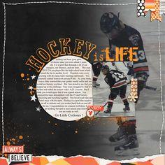 Digital Scrapbook page using Just Jaimee April 2014 Storyteller,   Our Creative Adventurers_Love me Templates and Art Warehouse hockey title