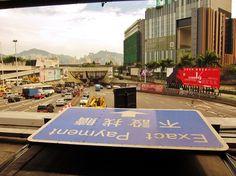 View of Hong Kong across the Hong Kong Cross Harbour Tunnel