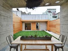 Bunker-Like Concrete Home Hides a Courtyard and a Tree Root Chandelier in San Francisco