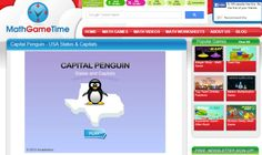 Learn to identify states and their capitals in this free Capital Penguin game!